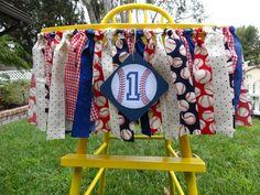 Vintage Baseball Birthday Highchair Banner/ photo prop/ backdrop on Etsy, $29.50