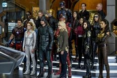 The DC TV heroes of Arrow, The Flash, Supergirl, and Legends of Tomorrow unite for Crisis on Earth-X, and tons of DC Comics references. Dc Comics Tv Shows, Marvel Comics, Marvel Dc, Legends Of Tommorow, Dc Legends Of Tomorrow, Supergirl 2015, Supergirl And Flash, Black Canary, Batwoman