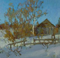 Russian Master: Vasendin Yury http://www.russianfineart.com/catalog/prod.php?productid=25131  March - oil, canvas
