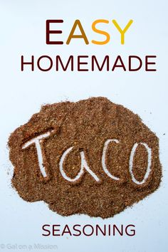 An easy and delicious homemade taco seasoning recipe that will make you forget the store-bought kind!