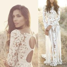 Hot White Appliques Bohemian Wedding Dress with Long Sleeves sold by simpledress. Shop more products from simpledress on Storenvy, the home of independent small businesses all over the world.