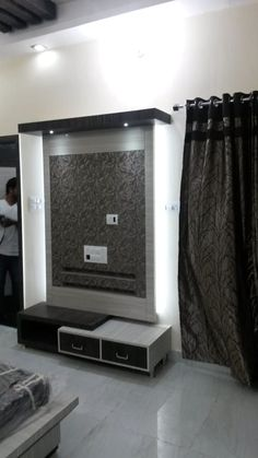 Hemraj soni rooms by maa architects & interior designers Lcd Unit Design, Lcd Wall Design, Tv Unit Interior Design, Tv Unit Furniture Design, Wall Unit Designs, Living Room Tv Unit Designs, Bedroom Furniture Design, Tv Showcase Design, Wall Wardrobe Design