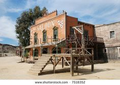 Image detail for -Gallow And Saloon In An Old American Western Town Stock Photo 7518352 ...