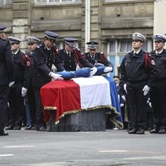 Ceremony for Police officer Xavier Jugelé that was killed by a jihadist in the Champs Elysee
