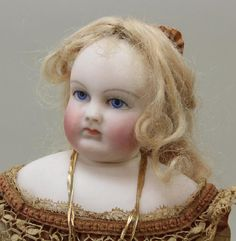 "14"" UNMARKED ROHMER ANTIQUE BISQUE HEAD FRENCH FASHION - 2"