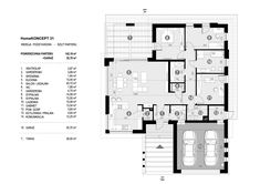 DOM.PL™ - Projekt domu CPT HomeKONCEPT-31 CE - DOM CP1-34 - gotowy koszt budowy House Construction Plan, Modern Family House, House Plans Mansion, Design Case, House 2, Floor Plans, Layout, House Design, How To Plan