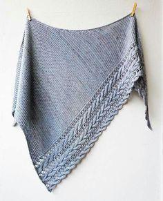 Beautiful cabled shawl