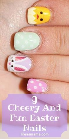 9 Cheery And Fun Easter Nails