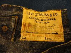 Levi Strauss 201 Overalls, 1910's