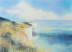 Dorset Coastal Cliffs In Bright Sunlight (2016) Acrylic painting by Marc Todd | Artfinder