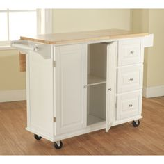 Aspen 3 Drawer Spice Rack Drop Leaf Kitchen Cart | Overstock.com  #dropleafkitchencarts