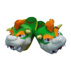 Super Mario Bowser Soft King Koopa Stuffed Plush Slipper. Would go great with my Yoshi slippers!