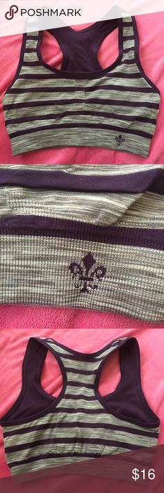 NWOT Lily of France sports bra. Small NWOT Lily of France sports bra. Reversible. Dark purple/gray. Nice thick supportive material. Nicely made. Pull over. No underwire. No padding. Great condition. Size small Lily of France Intimates & Sleepwear Bras