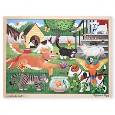 Have you been looking for a bright and colourful puzzle that will also educate your children about types of pets? Well check out this Pets at Play 24 Piece Jigsaw Puzzle by Melissa & Doug. Check out this and other wooden jigsaw puzzles online or instore. Wooden Puzzles, Bern, Puzzle Frame, Melissa & Doug, Fine Motor Skills, Cool Toys, Kids Rugs, Etsy, Children