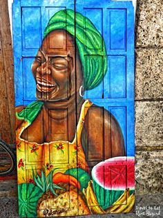 Cartagena's old town is a Unesco World Heritage site, a maze of cobbled alleys, balconies covered in bougainvillea and narrow streets filled with people San Jacinto, Epic Art, Art Pictures, Art Pics, Black Art, South America, Diys, Exotic, Around The Worlds