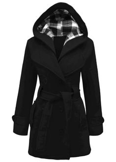 9551a845ced2f Double Breasted Fleece Coat Belted Coat