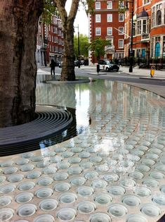 'Silence' water feature by Japanese architect Tadao Ando in Mount Street, Mayfair, London, England. Click image to enlarge and visit the slowottawa.ca boards >> http://www.pinterest.com/slowottawa/