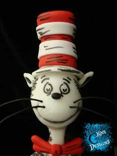 Cat In The Hat Cake Topper by KrazyKoolCakeDesigns on Etsy