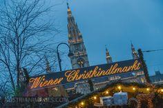 Rathaus, Wiener Christkindlmarkt, Weihnachtsmarkt in Wien, Österreich San Francisco Ferry, Vienna, Broadway Shows, Europe, Travel, Destinations, Viajes, Traveling, Trips