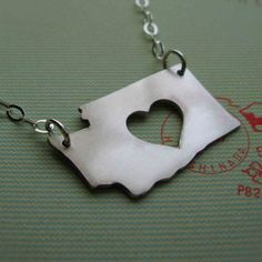 Washington State Love Necklace $55  (A bit steep for my budget, but really cool!)