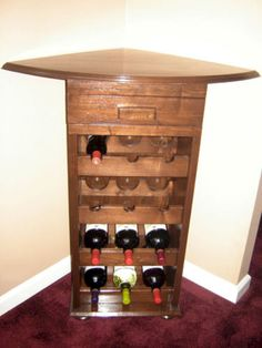 35 bottle corner wine rack with top and baseboard features solid wood top and cabinet style. Black Bedroom Furniture Sets. Home Design Ideas