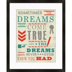 Sometimes the Dreams Framed Print