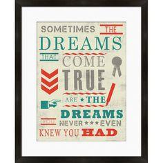 Sometimes the Dreams Framed Print