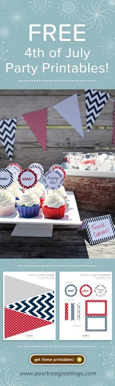Planning a 4th of July party? Get free printables to pull your patriotic party together!