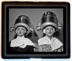 Odd Retro 1950's Women Getting their Hair Done