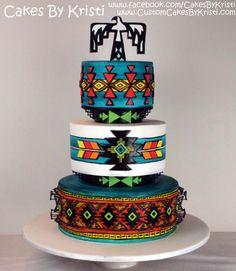Cake Wrecks - Home - Southwestern Sweets Pretty Cakes, Cute Cakes, Beautiful Cakes, Amazing Cakes, Wedding Cake Designs, Wedding Cakes, Native American Cake, Cake Wrecks, Fancy Cakes