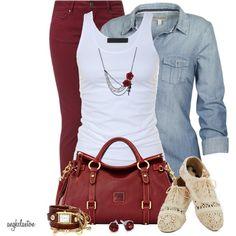 bolso y camiseta vaqueras bonitos