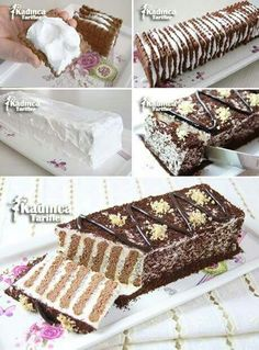 Could decorate a cake this way i.e. vertical layers instead of horizontal ones
