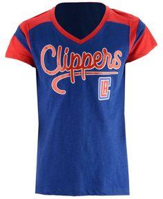 5th & Ocean Los Angeles Clippers Contrast Slub T-Shirt, Girls (4-16)
