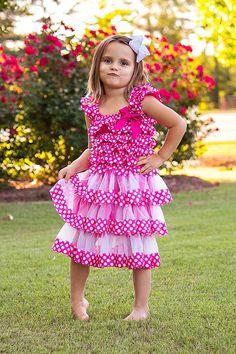 Toddlers Hot Pink Polka Dot Chiffon Dress // by AdalynsBoutique, $26.99  http://www.etsy.com/shop/adalynsboutique