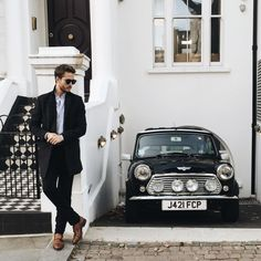 The house, the man and the Mini Cooper.. All in one picture!