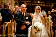 Holy Name Cathedral wedding in Chicago. Jaqui is wearing a vintage dress with hair styled by Livia Caporale.