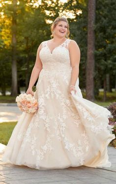 Check out this beautiful lace a-line available at Spotlight Formal Wear! #SpotlightBridal