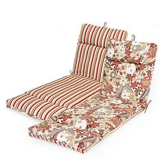 It;s that time of year again :)  Outdoor Reversible Chaise Cushions at Big Lots.