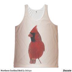 Northern Cardinal Bird All-Over Print Tank Top