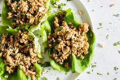 Thai Ground Chicken Lettuce Cups | Nutmeg Nanny