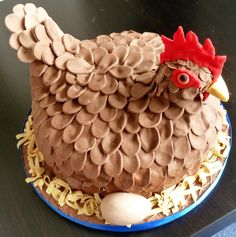 Its a cake – for a hen do. Geddit ? Cluck cluck cluck. henny penny chicken birthday cake