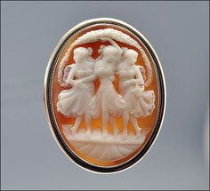 Vintage Victorian Cameo Brooch Pendant Sterling Silver by boylerpf