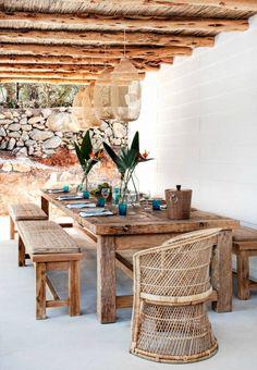 Ibiza stijl tuinset