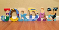 Disney princess letter art. Hand painted wood letters. Kids room/nursury wall decoration. Price listed is per letter! by ShellsDesignStudio on Etsy https://www.etsy.com/listing/239308828/disney-princess-letter-art-hand-painted