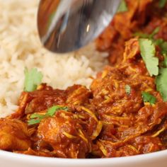 Slow Cooker Chicken Tikka Masala is part of Crockpot recipes - Cooker Recipes, Crockpot Recipes, Chicken Recipes, Healthy Recipes, Barbecue Recipes, Meatball Recipes, Tasty Videos, Food Videos, Cooking Videos
