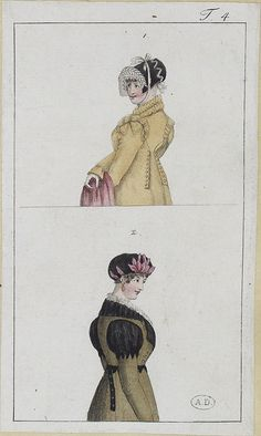 fashion plate 1801-02  from the collection of the Bibliothèque des Arts Décoratifs, on flickr by SceneInThePast