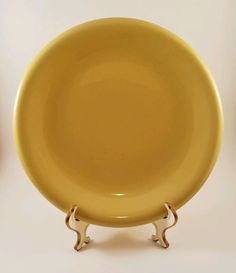 RARE! 1940s #Vintage #Sterling #China Russel Wright #Yellow Chartreuse #Dinner #Plate #RusselWright