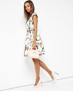 Floral A-Z skater dress - Ivory   Dresses   Ted Baker