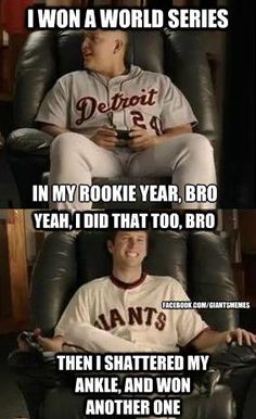 """Hahaha! Buster Posey's number one! <3  Also, """"it's a video game moron."""""""