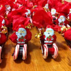 Candy Santa sleighs